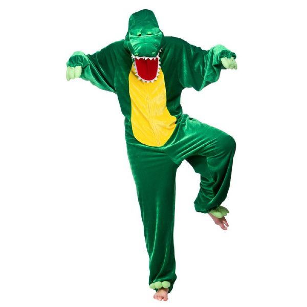 Adult Crocodile Costume for Animals Bugs Creatures Fancy Dress Mens Ladies